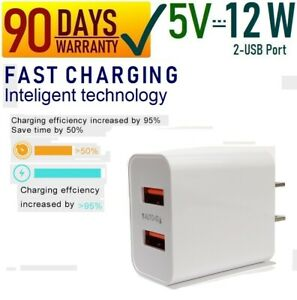 12W 2.4A Double USB Port Wall Cube Charger for iPad 2,3,4,5,6,7,Air,Air 2,Pro[13