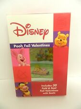 Disney Winnie The Pooh Foil Valentines - 30 Fold & Seal Valentines With Seals