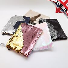 Sparkly Crystal Reversible Sequin Mermaid Glitter handbag Evening Clutch Bag