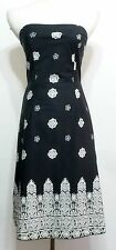 Heart Moon & Star Brand Black and White Ladies Strappy Sun Dress - Size 4