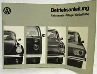 1973 Volkswagen Type 1 2 3 and 4 Owners Operating Manual - German Text