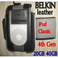 BELKIN leather Case, Clip & Armband ~for 4th gen 4G APPLE iPod Classic 20GB 40GB