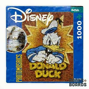 Disney Donald Duck Photomosaics 1000 Piece Puzzle w/Poster | Buffalo | Complete
