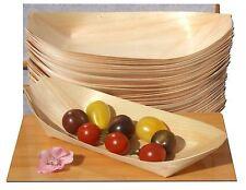 Grandi barche in legno x 100 per Alimenti FINGER, snack e cibi PARTY (225x125mm)