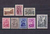 BELGIUM 1939 Sc# B241-B248, CV $45, Semi-postal, MH/MNH