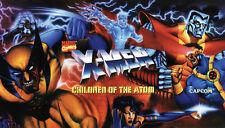 "X-men Children of the Atom - Dynamo Big Blue Arcade Marquee - 27""x15.5"""