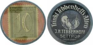 Germania Briefmarkenkapselgeld 10 Pfennig Grande 51773