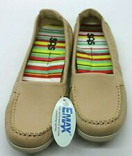 "SAS Women's Beige ""Sunny"" Slip On Moccasin Loafers Size 7.5 N NEW"
