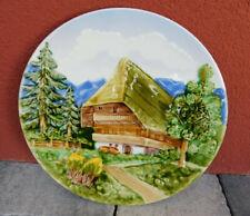 vintage PLAT MAJOLIKA Schramberg SMF 4504-22 ASSIETTE MURALE teller PLATE WALL