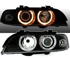Angel Eyes XENON Scheinwerfer Set in Schwarz für 5er BMW E39 95-00 D2S / LWR