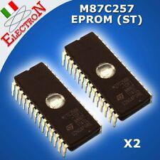 2x M87C257-12F1 EPROM ST ORIGINALE 120ns DIP28  32KBx8 CANCELLABILE U.V. latch