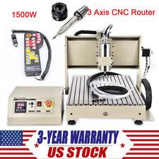 3 Axis CNC 6040 Router Engraver 1500W USB Engraving Machine+Handwheel Controller