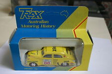 1/43 HOLDEN SEDAN 1955 REDEX TRIAL 1988 BASH BY TRAXX YELLOW #88 DISPLAY BOX