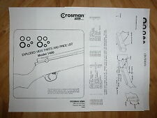 Crosman 1400 Two (2) O-Ring Seal Kits With Exploded View + Parts List + Guide