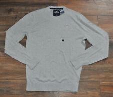 Hollister Mens Crew Neck Grey Knitwear Jumper L / Large NEW