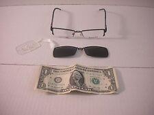 Takumi Black & Purple Eyeglasses Frames w/ Polarized Magnetic Clip on