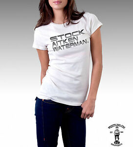Stock Aitken Waterman Official T-Shirt by Whistling Jim (Woman)