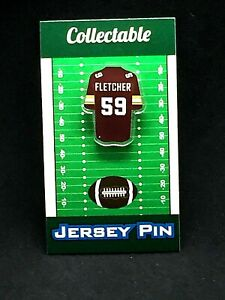 Washington Redskins London Fletcher jersey lapel pin-Classic RETRO Collectable