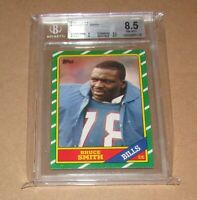1986 Topps #389 Bruce Smith RC BGS 8.5 NM-MT+ Fast Shipping