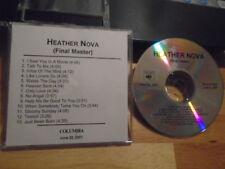 RARE PROMO Heather Nova FINAL MASTER CD South VERVE Bernard Butler BRYAN ADAMS !