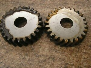 Matched pair, helical gear shaper cutters