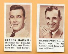 1953 CAMEL CIGARETTES BASEBALL PLAYERS ADVERTISMENT - AS PICTURED - WARREN SPAHN