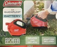 Coleman 4D Quick Pump Portable Air Pump - Battery Powered (4xD Cells) or (QPX-6)
