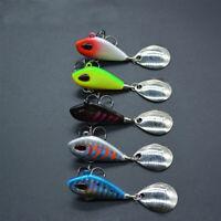 Tackle Spoon Metal Metal Fishing Bait Treble Hook VIB Lure Wobblers Crankbaits