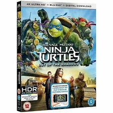NEW SEALED 4K BLU RAY Teenage Mutant Ninja Turtles: Out Of The Shadows