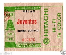 CALCIO   BIGLIETTO  TICKET   MILAN    JUVENTUS  CAMPIONATO   1979/80