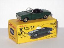 DAN TOYS Peugeot 204 Cabriolet Verde (Portes y la campana las aperturas ) 222