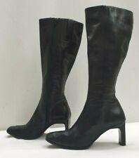 DEBENHAMS ladies womens black leather knee boots Size UK 5 EU 38