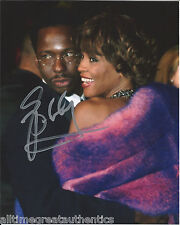 SINGER BOBBY BROWN SIGNED AUTHENTIC 8X10 PHOTO w/WHITNEY HOUSTON w/COA PROOF