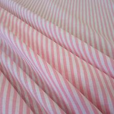 Stoff Meterware Baumwollstoff Streifen gestreift rosa weiß 4 mm durchgewebt