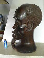 ENORME TETE AFRICAINE MASSIVE QUI DATE DE 1947 ET EST SIGNEE