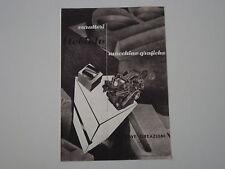 advertising Pubblicità 1948 NEBIOLO MACCHINE GRAFICHE