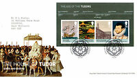 21 APRIL 2009 HOUSE OF TUDORS MINIATURE SHEET ROYAL MAIL FIRST DAY COVER BUREAU