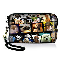 Dog Compact Digital Camera Phone Case Bag Pouch For Nikon Canon Sony Olympus