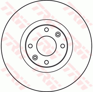 TRW Brake Rotor Front DF4962S fits Citroen DS4 1.6 THP 155 (115kw), 1.6 THP 1...