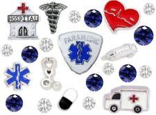 23 pcs Paramedic EMT Floating Charms for Floating Locket Hospital Stethoscope