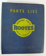 Rootes HUSKY & Pannocchia SERIE I, II & III-Auto Parts List - 2a EDIZIONE - # 6601039