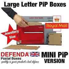 1500 x MINI PIP POSTAL BOXES Cardboard Large Letter Mailers Jewellery Size