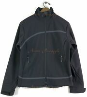 Columbia Titanium Womens SZ Small Black and Gray Softshell Mock Neck Jacket EUC