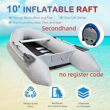 Secondhand 10' Heavy Duty Inflatable Boat Raft for Adults on Rivers Lakes More