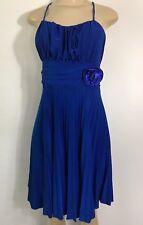 Tutu Fashion Womens Dress Spaguetti Straps Blue Large