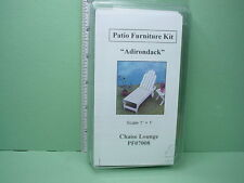 Dollhouse Miniature Patio Chaise Lounge Furniture Kit #PF08 - 1/12th Scale