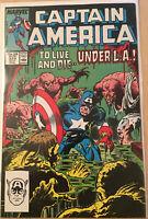 Marvel Comics Captain America #329 1968 Comic Book VF