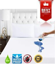Waterproof Mattress Box Spring Encasement Zippered Protector Cover Pad Bed