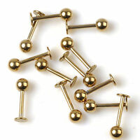 Lot 10pcs Stainless Steel Labret Lip Stud Labret Chin Ring Monroe Bar Tragus Hot