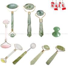 Natural Jade Guasha Facial Beauty Massage Tool Jade Roller Face Thin Massager